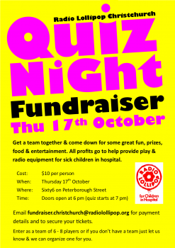 Christchurch Quiz Night Fundraiser – what do you know